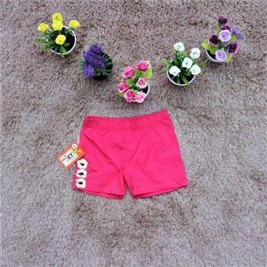 quần đùi 3 hoa bé gái- S3H6-QUẦN XUÂN HÈ BÉ GÁI