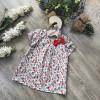Áo hoa boi nơ cổ- A46285-