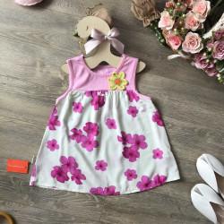 Áo hoa lanh sát nách bé gái- A56135-4