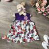 Áo lanh hoa xuân hè bé gái- A56135-1-