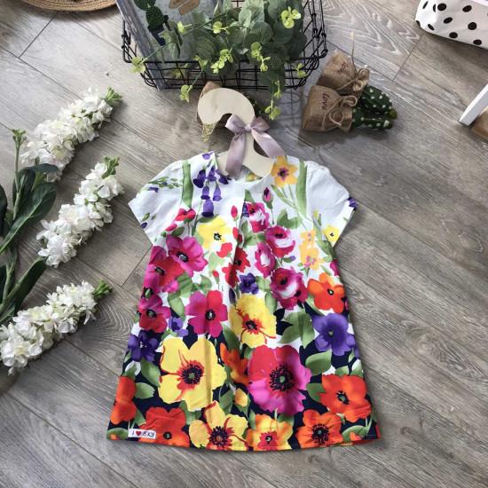 váy thô cộc tay bé gái - v715104A
