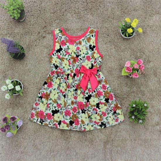 váy lanh hoa bé gái- V665-VÁY XUÂN HÈ BÉ GÁI