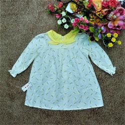 Áo váy thu cổ nơ tay dài - AV78295