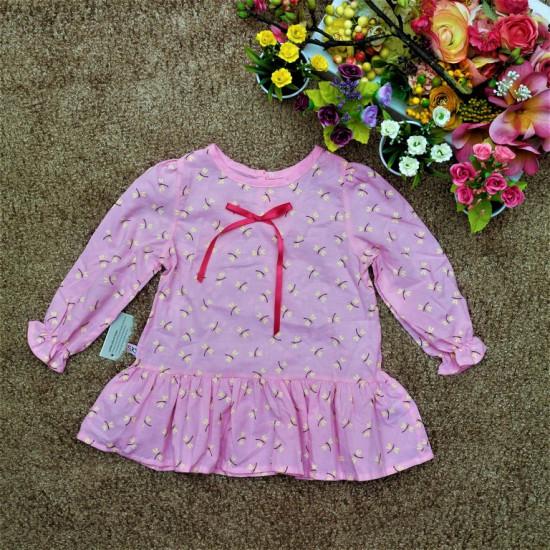 Váy cá nhí - V78225-ÁO THU ĐÔNG BÉ GÁI