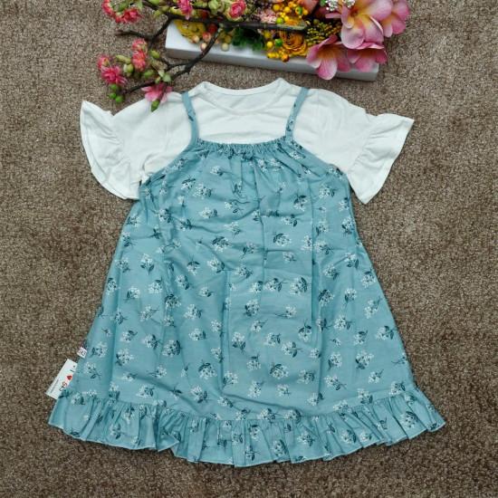 Sét yếm hoa áo bèo tay lỡ - SV97265