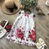 Váy A sn hoa thô- V72204-