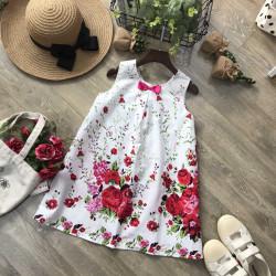 Váy A sn hoa thô- V72204