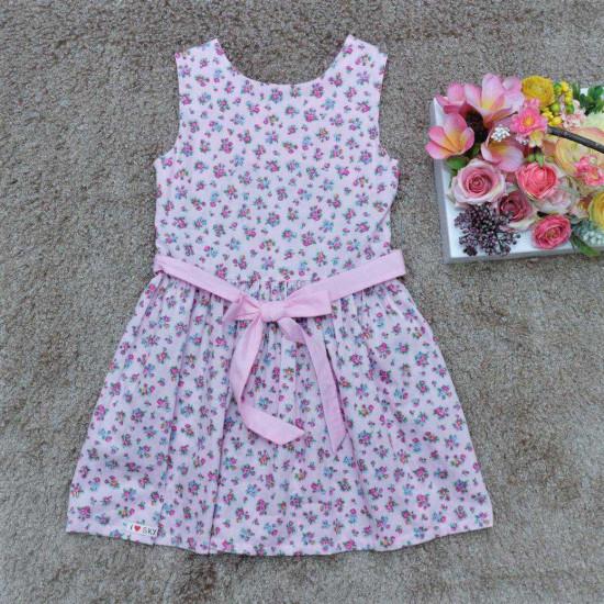 Váy hoa đại buộc-VÁY XUÂN HÈ BÉ GÁI