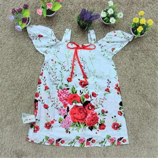 Váy 2 dây trễ vai hoa chân