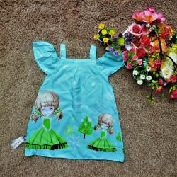 váy 2 dây tay trễ-v7644