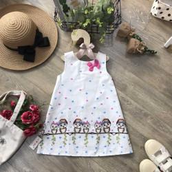Váy Sát Nách Chân Cú Mèo- V28245