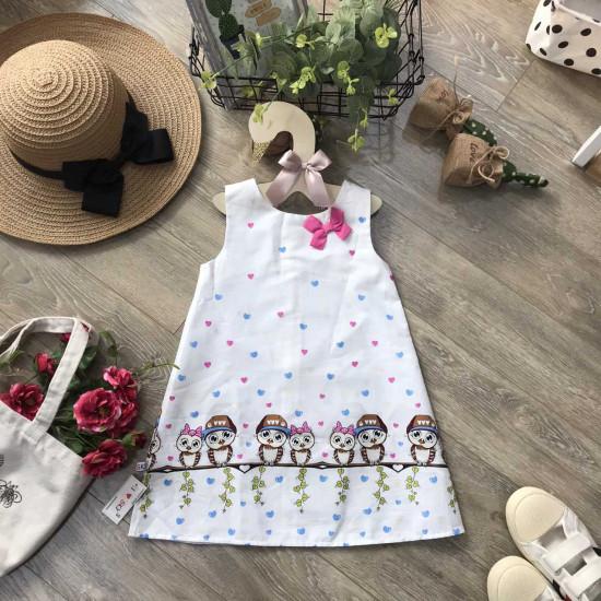 Váy Sát Nách Chân Cú Mèo-VÁY XUÂN HÈ BÉ GÁI