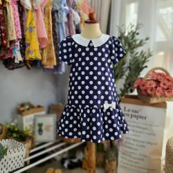 Váy Chấm Bi Đuôi Cá Cổ Sen- V3874