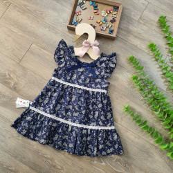 Váy hoa ren 2 tầng tay tiên  - v38175