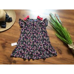 Váy lanh hoa tay trễ size 4 -8