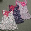 Váy hoa tay tiên viền nơ cổ-