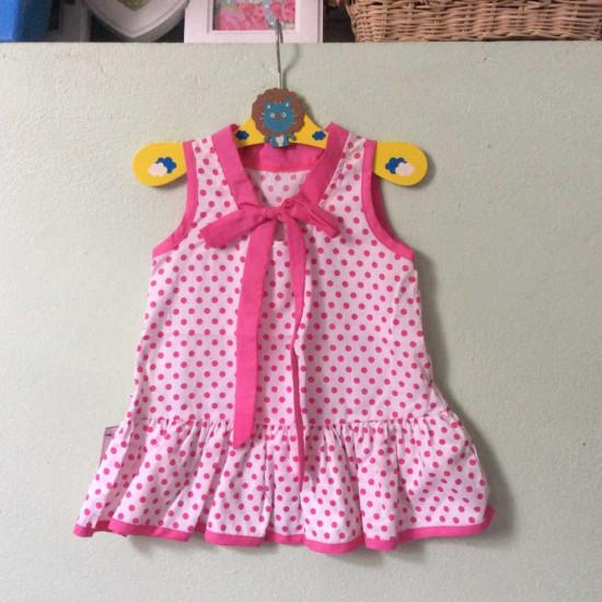 Váy Hồng Chấm Bi-