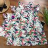 Váy tơ đũi tay trễ dún ngực size đại S -L-