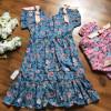 váy thô hoa 2 tầng đuôi cá size 7 -10-