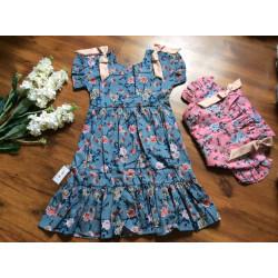 váy thô hoa 2 tầng đuôi cá size 7 -10