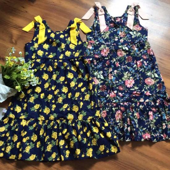 váy thô hoa nơ vai đuôi cá size 7 -10-