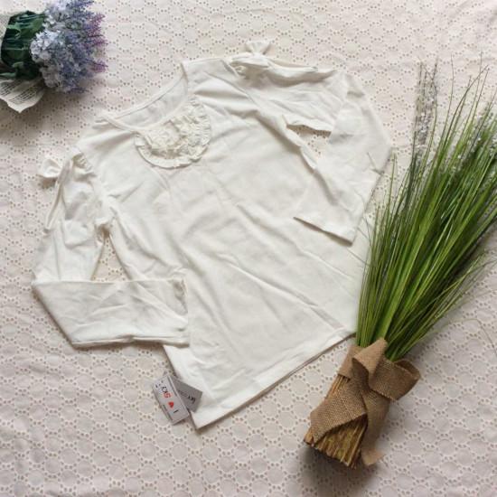 Áo thu cotton đáp cổ size đại