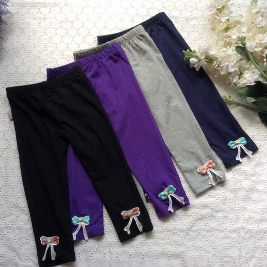 quần legging COTTON nơ gấu