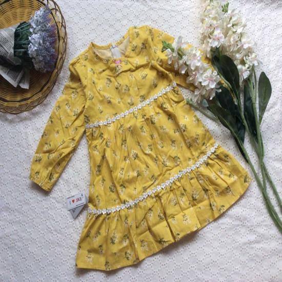 bán sỉ Váy hoa ren 2 tầng thu đông - đại lý phân phối hãng KIDSKY