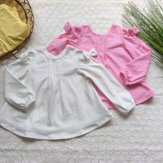 Áo thun cotton thu dài tay-ÁO THU ĐÔNG BÉ GÁI