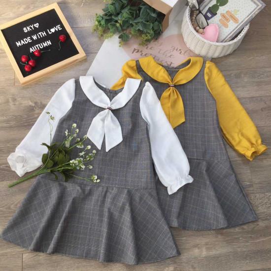 Váy đuôi cá thu đông cho bé size 6 -10-VÁY THU ĐÔNG BÉ GÁI