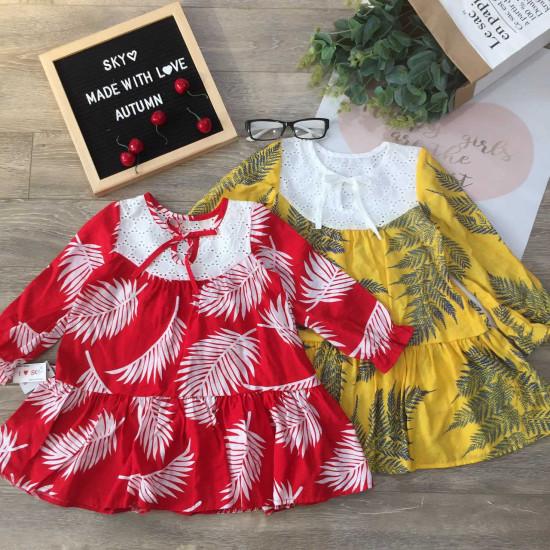 váy thu hoa đuôi cá trẻ em-VÁY THU ĐÔNG BÉ GÁI