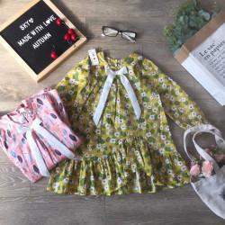 váy thu dài tay hoa đuôi cá