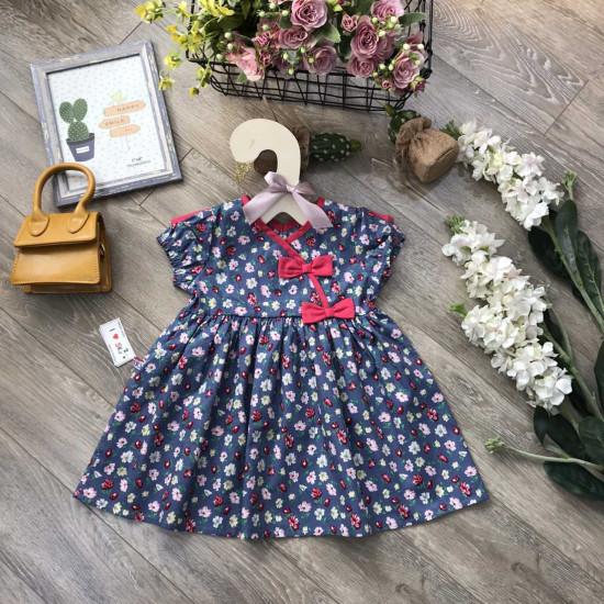 Váy hoa nhí vạt chéo size 2-6