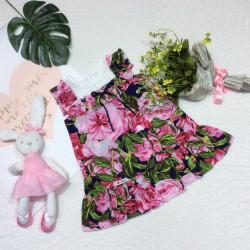 Váy hoa đuôi cá bèo ren cổ  size 2-6