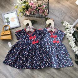 Váy hoa nhí vạt chéo size 2-6  - v29215