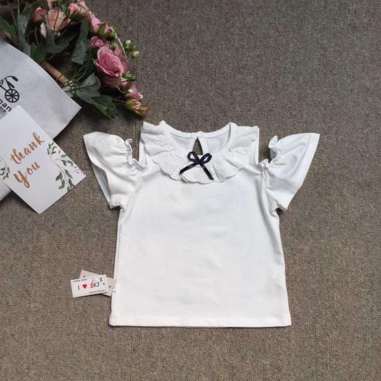 Áo cotton cổ ren trễ vai - A39285