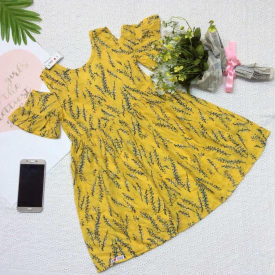 váy đũi hoa size đại - v39134