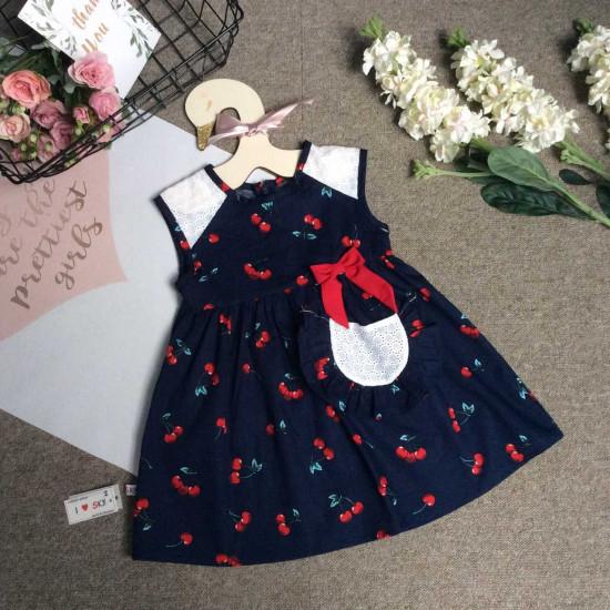váy hoa 2 tầng tay dơi - v29204