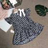 váy hoa đuôi cá nơ vai - v39145-