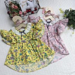 váy vạt lệch ren cổ size 2-6