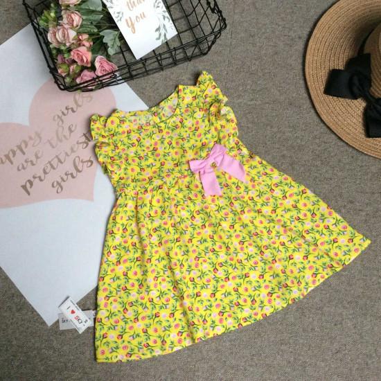 Váy lanh hoa tay tiên size 2-6