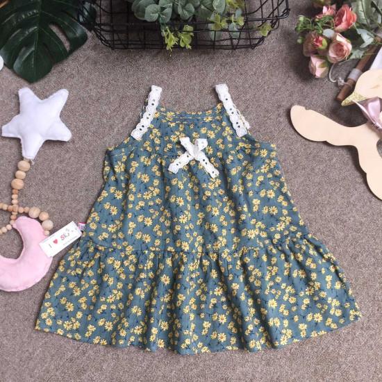 váy 2 dây boi hoa size 2 -6
