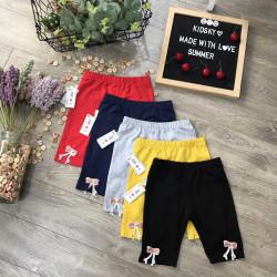 quần legging cotton nơ gấu hè bé gái size 2-8  -LEGN7
