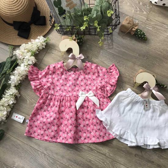 Áo váy hoa thô hàn tay loe