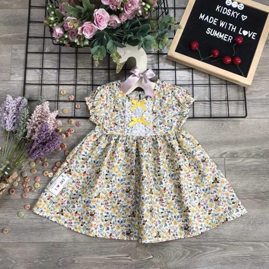 váy hoa thô bé gái ren ngưc