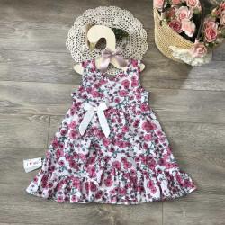 Váy hoa boil vạt chéo size 2-6 - V20196