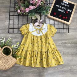 Váy hoa cổ nơ bé gái xuân hè - AV20205