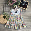 váy hoa đuôi cá bé gái xuân hè-