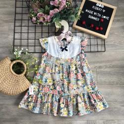 váy hoa đuôi cá bé gái xuân hè