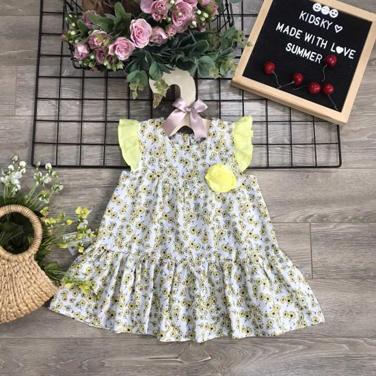 Váy hoa nhí tay tiên size 2-6-VÁY XUÂN HÈ BÉ GÁI